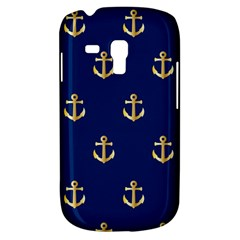 Gold Anchors On Blue Background Pattern Galaxy S3 Mini by Simbadda