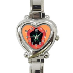 Fractal Flower Heart Italian Charm Watch by Simbadda