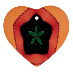Fractal Flower Heart Ornament (Two Sides)