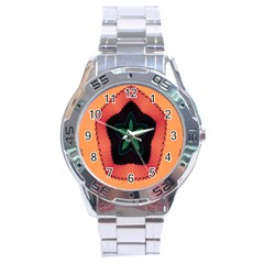 Fractal Flower Stainless Steel Analogue Watch
