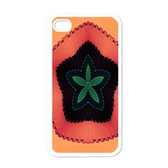 Fractal Flower Apple Iphone 4 Case (white) by Simbadda