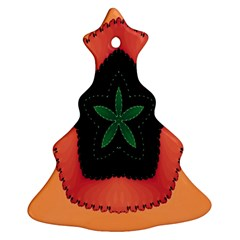 Fractal Flower Christmas Tree Ornament (Two Sides)
