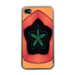 Fractal Flower Apple iPhone 4 Case (Clear)