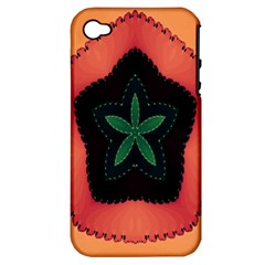 Fractal Flower Apple iPhone 4/4S Hardshell Case (PC+Silicone)