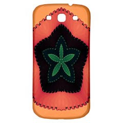 Fractal Flower Samsung Galaxy S3 S III Classic Hardshell Back Case