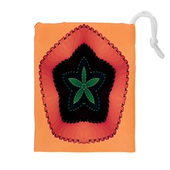 Fractal Flower Drawstring Pouches (Extra Large)