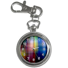 Colorful Abstract Background Key Chain Watches by Simbadda