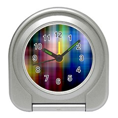 Colorful Abstract Background Travel Alarm Clocks