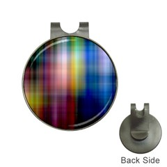 Colorful Abstract Background Hat Clips With Golf Markers by Simbadda