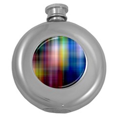 Colorful Abstract Background Round Hip Flask (5 Oz) by Simbadda