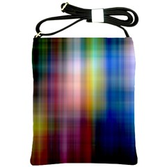 Colorful Abstract Background Shoulder Sling Bags by Simbadda