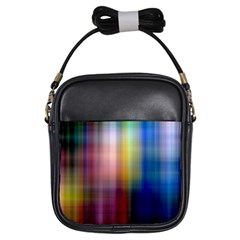 Colorful Abstract Background Girls Sling Bags by Simbadda