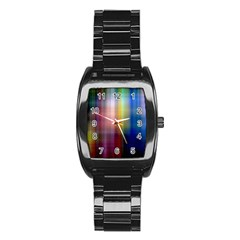 Colorful Abstract Background Stainless Steel Barrel Watch by Simbadda