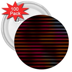 Colorful Venetian Blinds Effect 3  Buttons (100 Pack)  by Simbadda