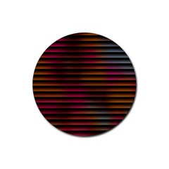 Colorful Venetian Blinds Effect Rubber Coaster (round)  by Simbadda