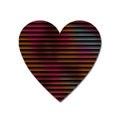 Colorful Venetian Blinds Effect Heart Magnet by Simbadda