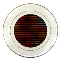 Colorful Venetian Blinds Effect Porcelain Plates by Simbadda