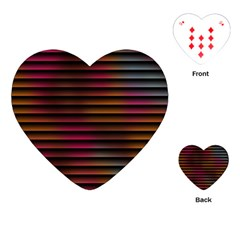 Colorful Venetian Blinds Effect Playing Cards (heart)  by Simbadda