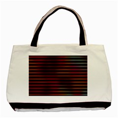 Colorful Venetian Blinds Effect Basic Tote Bag (two Sides) by Simbadda