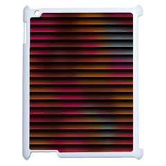 Colorful Venetian Blinds Effect Apple Ipad 2 Case (white) by Simbadda