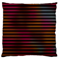 Colorful Venetian Blinds Effect Large Cushion Case (two Sides) by Simbadda