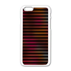 Colorful Venetian Blinds Effect Apple Iphone 6/6s White Enamel Case by Simbadda