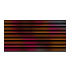 Colorful Venetian Blinds Effect Satin Wrap by Simbadda