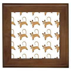 Cute Cats Seamless Wallpaper Background Pattern Framed Tiles by Simbadda