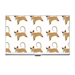 Cute Cats Seamless Wallpaper Background Pattern Business Card Holders by Simbadda