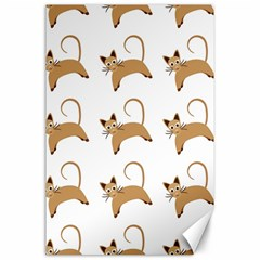 Cute Cats Seamless Wallpaper Background Pattern Canvas 24  X 36  by Simbadda