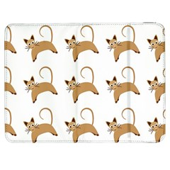 Cute Cats Seamless Wallpaper Background Pattern Samsung Galaxy Tab 7  P1000 Flip Case by Simbadda