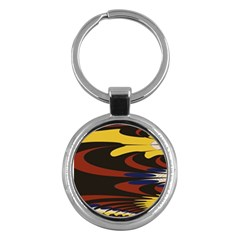 Peacock Abstract Fractal Key Chains (round)  by Simbadda