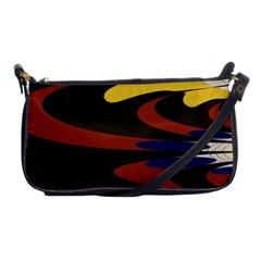 Peacock Abstract Fractal Shoulder Clutch Bags by Simbadda
