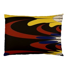 Peacock Abstract Fractal Pillow Case (two Sides) by Simbadda