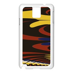 Peacock Abstract Fractal Samsung Galaxy Note 3 N9005 Case (white)