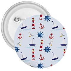 Seaside Nautical Themed Pattern Seamless Wallpaper Background 3  Buttons
