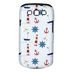 Seaside Nautical Themed Pattern Seamless Wallpaper Background Samsung Galaxy S Iii Classic Hardshell Case (pc+silicone)