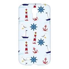 Seaside Nautical Themed Pattern Seamless Wallpaper Background Samsung Galaxy S4 I9500/i9505 Hardshell Case