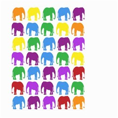 Rainbow Colors Bright Colorful Elephants Wallpaper Background Large Garden Flag (two Sides)