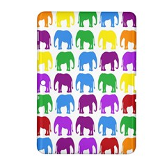 Rainbow Colors Bright Colorful Elephants Wallpaper Background Samsung Galaxy Tab 2 (10 1 ) P5100 Hardshell Case  by Simbadda