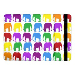 Rainbow Colors Bright Colorful Elephants Wallpaper Background Samsung Galaxy Tab Pro 10 1  Flip Case by Simbadda