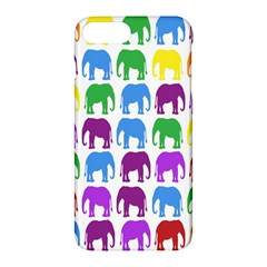 Rainbow Colors Bright Colorful Elephants Wallpaper Background Apple Iphone 7 Plus Hardshell Case by Simbadda