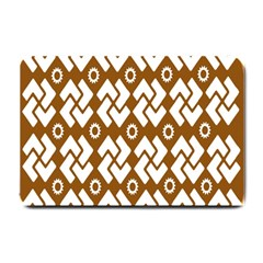 Art Abstract Background Pattern Small Doormat  by Simbadda