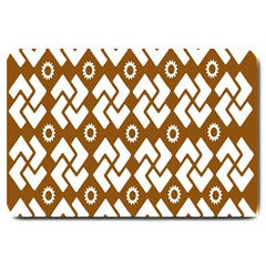 Art Abstract Background Pattern Large Doormat  by Simbadda
