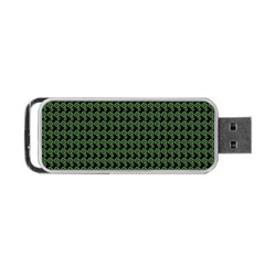 Clovers On Black Portable Usb Flash (two Sides) by PhotoNOLA