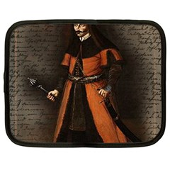 Count Vlad Dracula Netbook Case (large) by Valentinaart