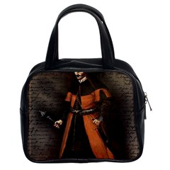 Count Vlad Dracula Classic Handbags (2 Sides) by Valentinaart