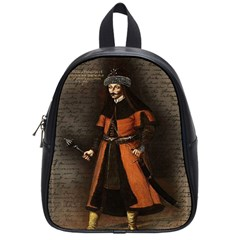 Count Vlad Dracula School Bags (small)  by Valentinaart