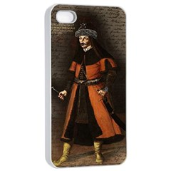 Count Vlad Dracula Apple Iphone 4/4s Seamless Case (white) by Valentinaart