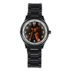 Count Vlad Dracula Stainless Steel Round Watch by Valentinaart